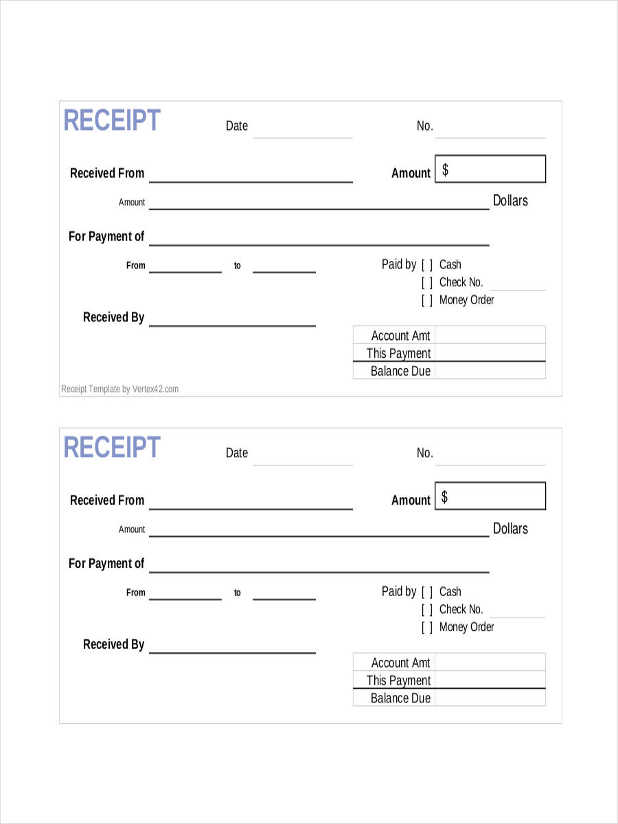 8 Official Receipts Examples Samples – Sample Official Receipt