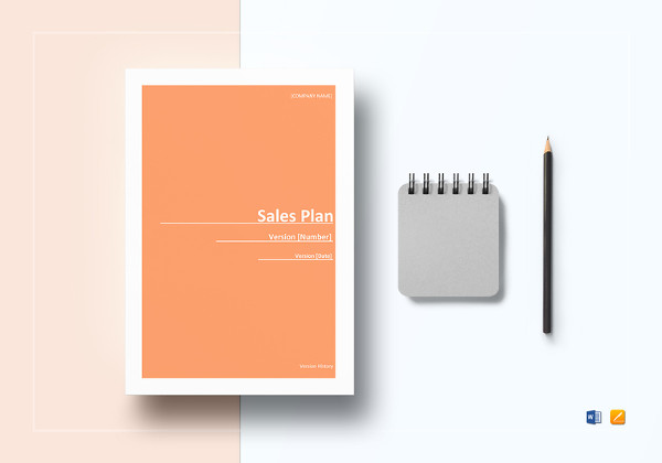 sample sales plan template in word
