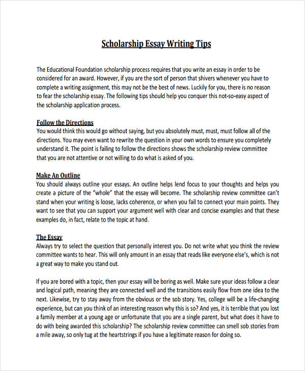scholarship essay - Scholarship Essay Introduction Examples