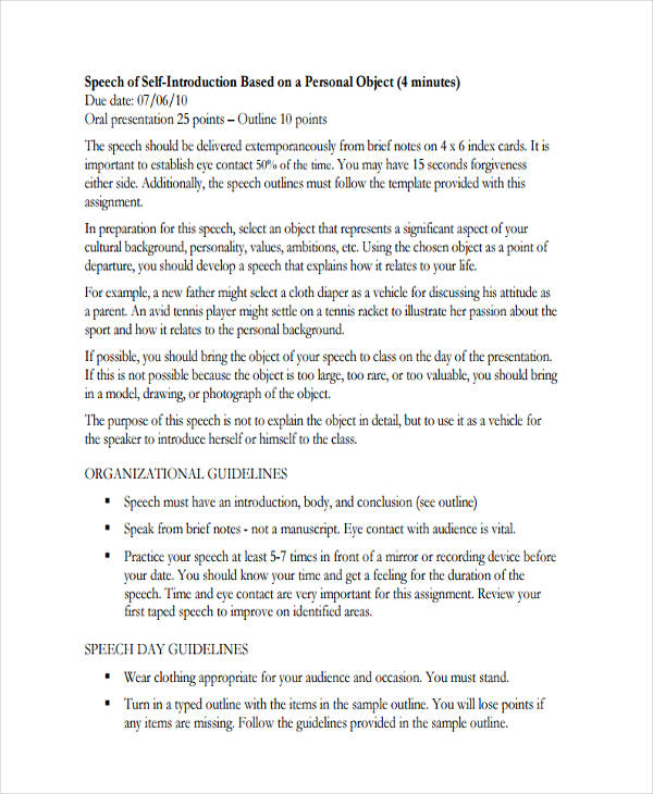 Speech Outline Template Prep Outline Final Speech Template Related