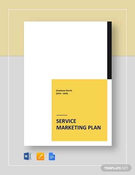 service marketing plan template