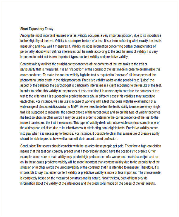 Marvelous Short Expository Essay