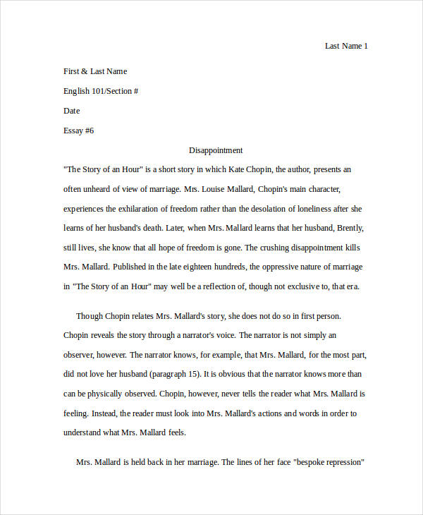literary analysis sampels literary analysis of a short story