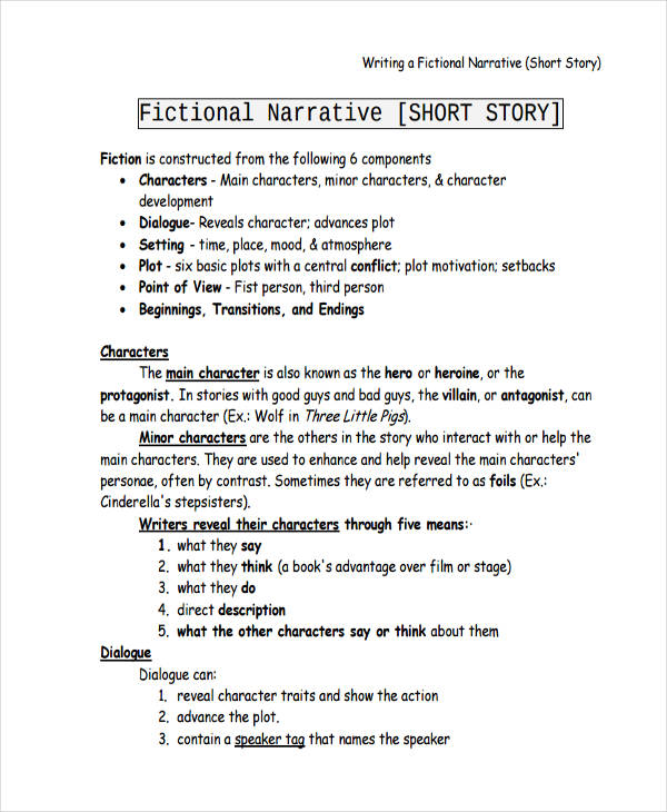 short narrative essay writing