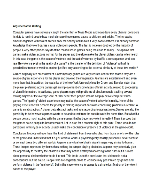 example essay argumentative writing persuasive example essay  short argumentative writing example essay argumentative writing