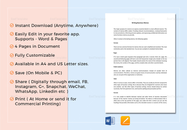 17 business memo examples samples pdf doc simple business memo template accmission Image collections