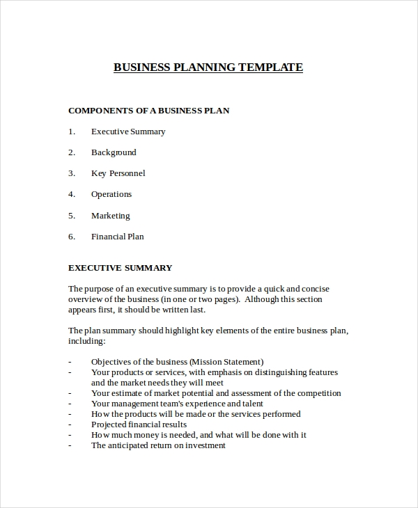 Business Plan Examples - Simple business plan templates