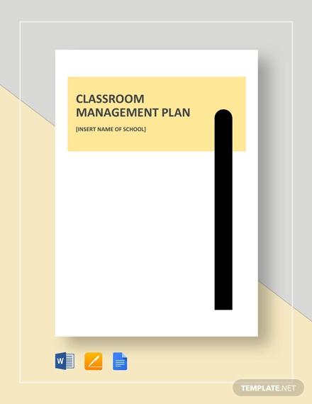 simple classroom management plan