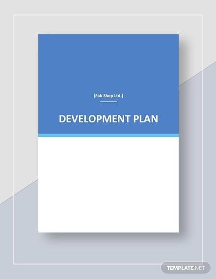 simple development plan template