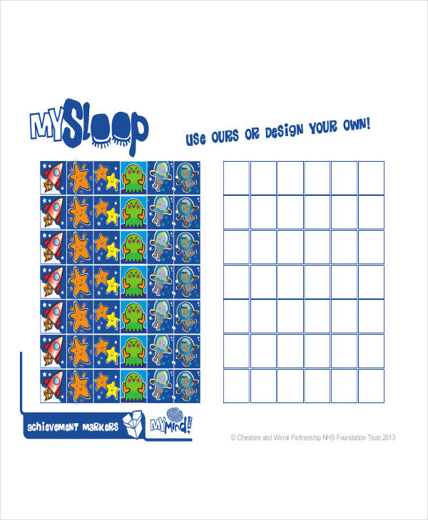 sleep reward chart