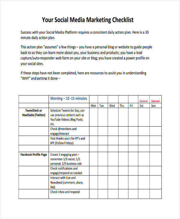 social media checklist1