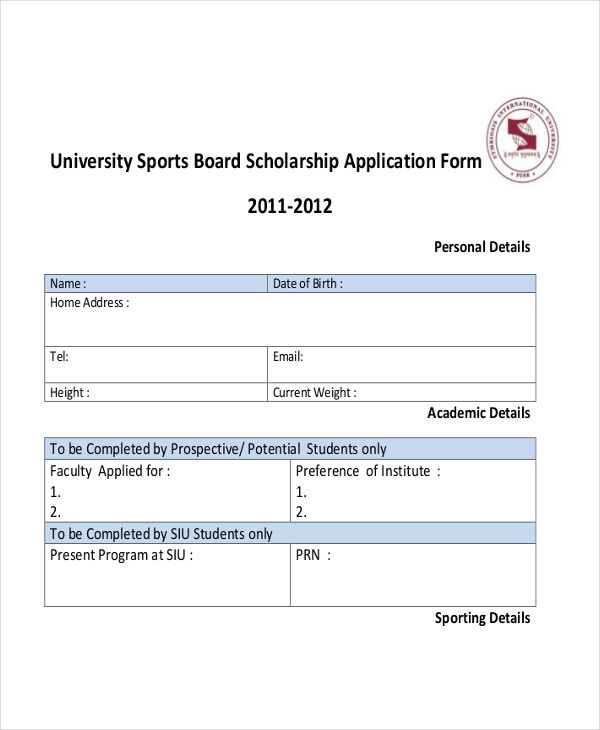 scholarship applications examples