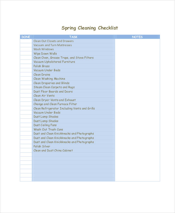 spring cleaning checklist1
