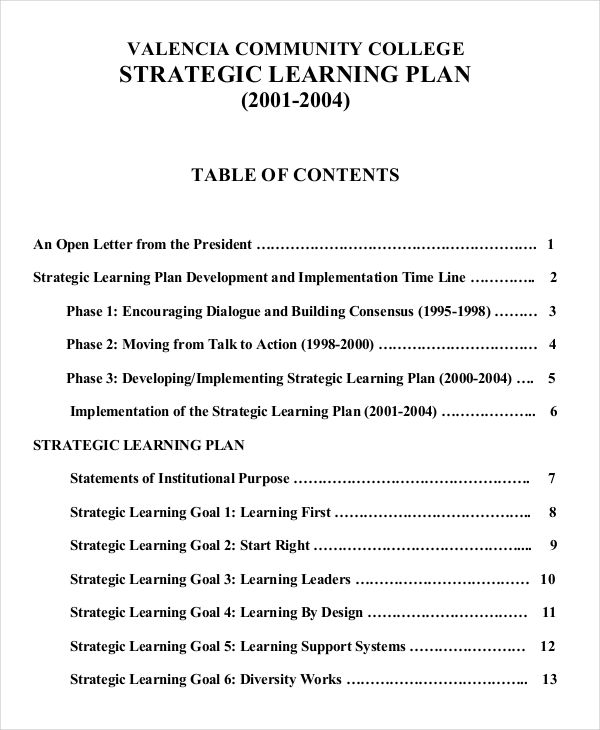 strategic learning example