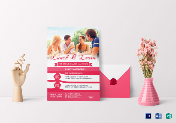 sweet lunch and learn invitation template