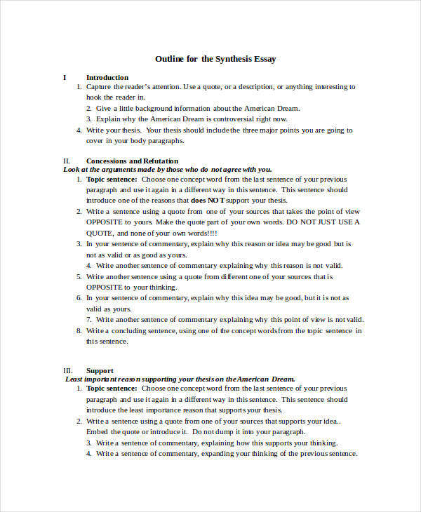 synthesis essay outline. Resume Example. Resume CV Cover Letter