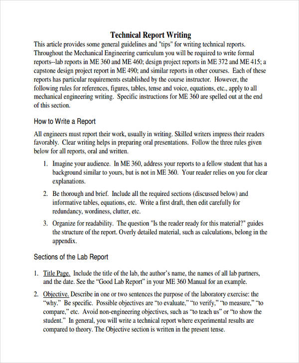 Report Writing Examples  Pdf