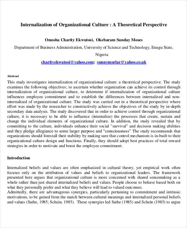 theory organizational culture