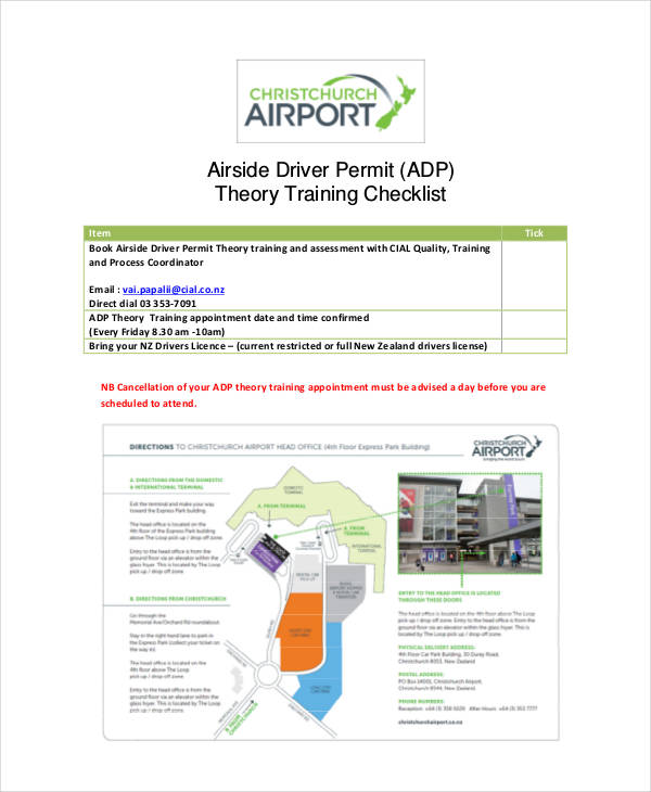 theory training checklist1