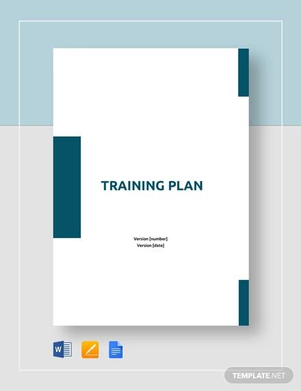 training plan template2
