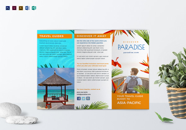 14 travel brochure designs examples psd ai vector for Travel guide brochure template