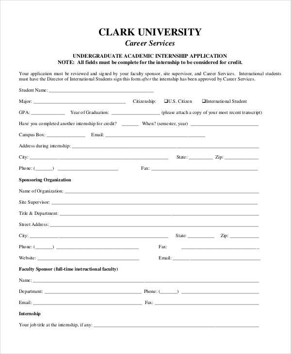 undergraduate internship