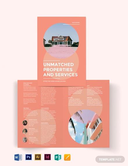 vacation rental bi fold brochure template