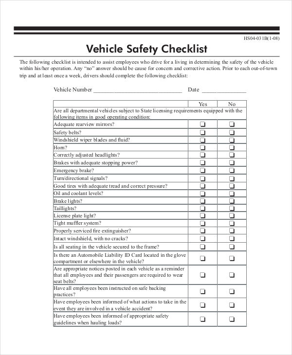 Nc car state inspection checklist