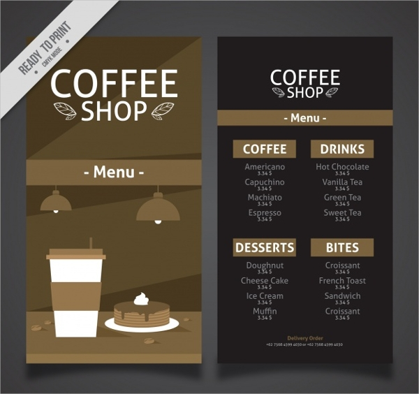 FREE 9+ Cafe Menu Designs in PSD | AI | EPS Vector | Examples