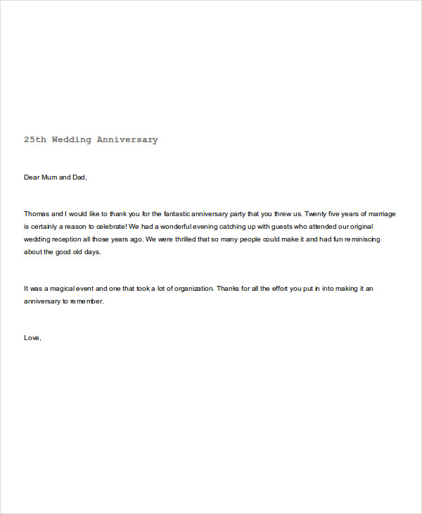 wedding anniversary note