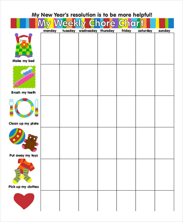 8 Chore Chart Examples Samples