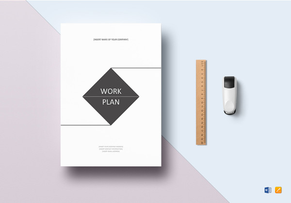 work plan word template