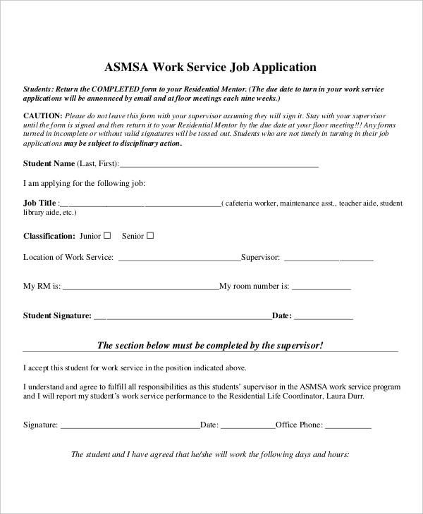 work service application