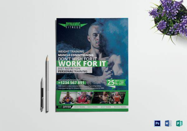 36 fitness flyer designs examples psd ai vector eps word pages