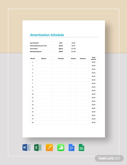 free 10  amortization schedule examples  u0026 samples in pdf