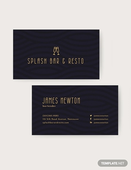 62 Examples Of Business Card Templates Pages Psd Word Ai