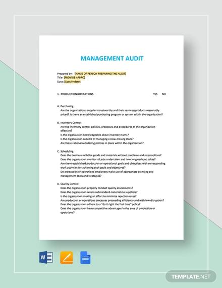 management audit1