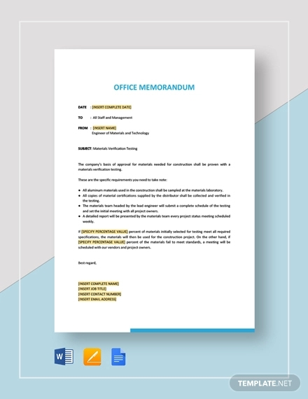 17+ Office Memo Examples, Samples | Examples