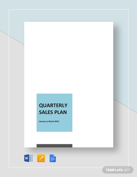 quaterly sales plan