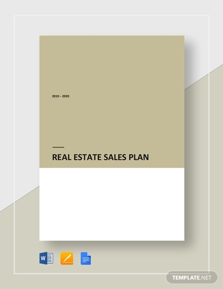 real estate sales plan