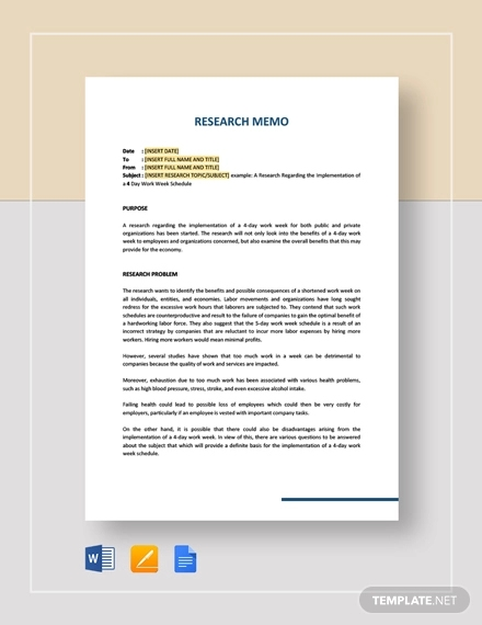 research memo