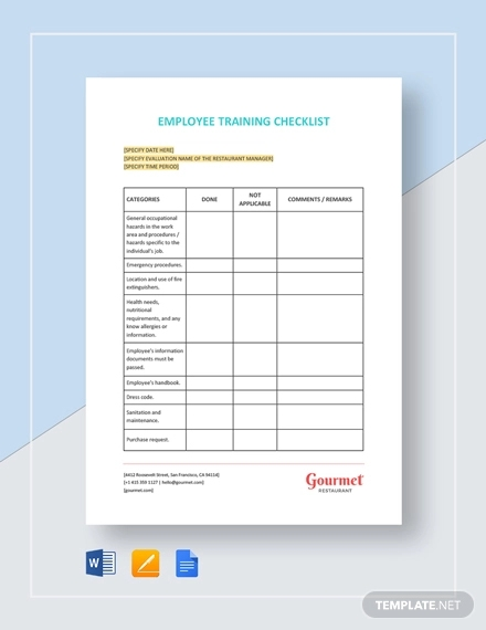 restaurant employee training