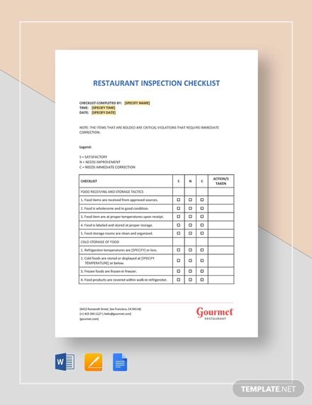 restaurant inspection
