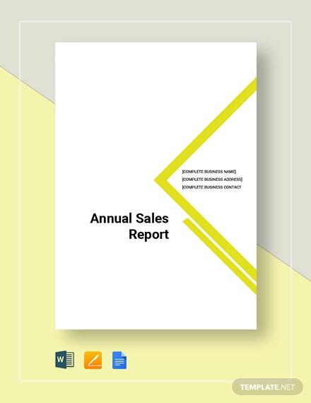 annual sales report