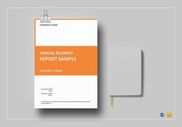 annual business report word template