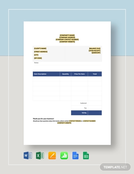 blank invoice template1