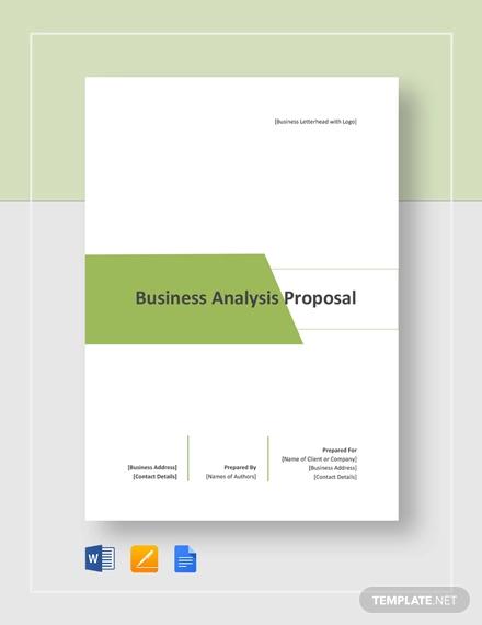 business analysis proposal