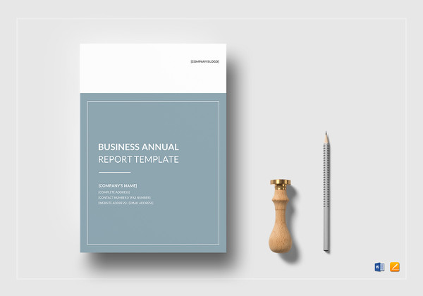 business annual report template in ms word