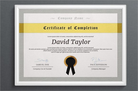 9+ Certificate of Completion - Word, PSD, AI, InDesign ...