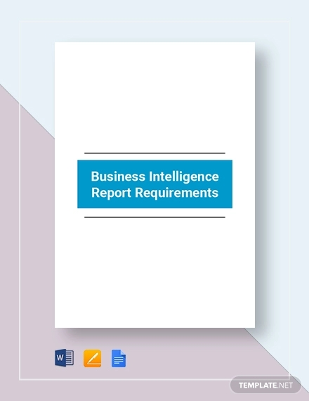 business intelligence requirement